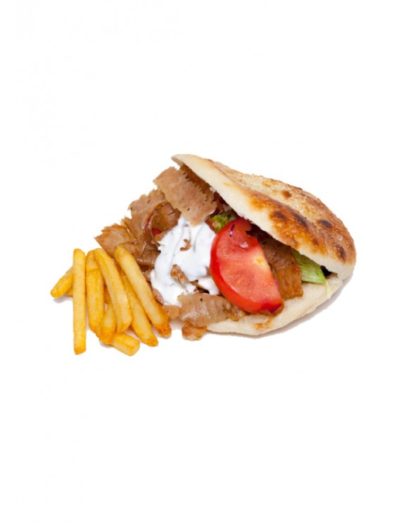 Cheese gyros in pocket bread