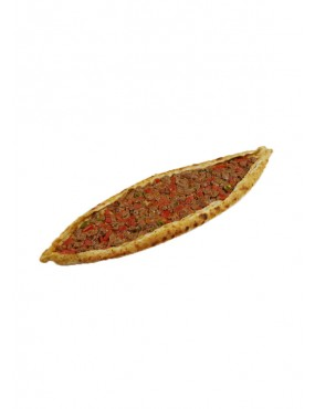 Pide with cheese and minced meat