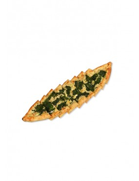 Pide with cheese and spinach