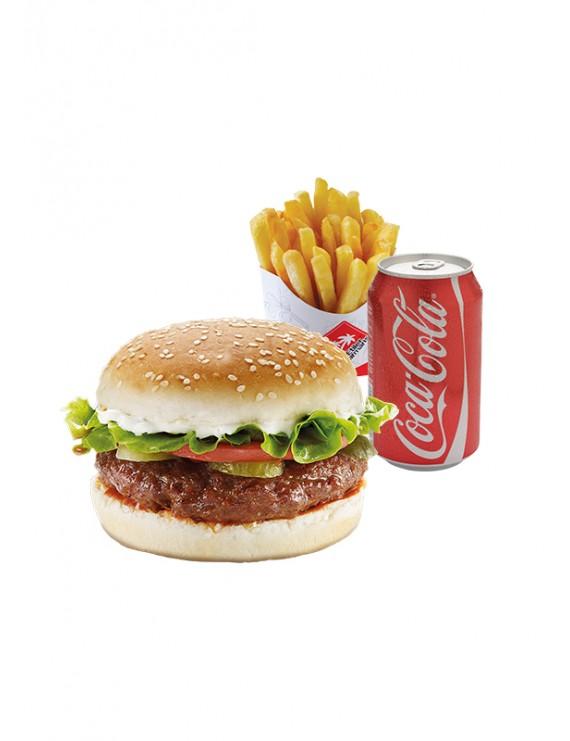 Savings Menu 1 (hamburger + fries with drink)